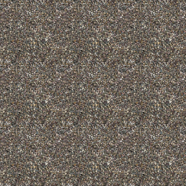 Reduced pattern effect of the pebble texture